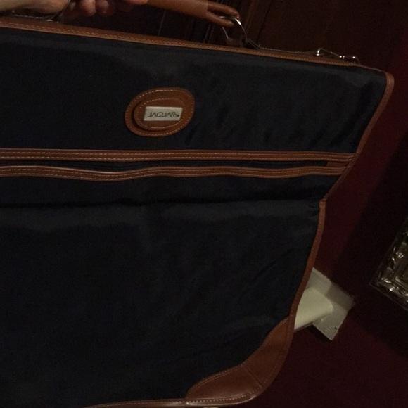 Jaguar Bags Garment Bag Luggage Leather Trim Poshmark